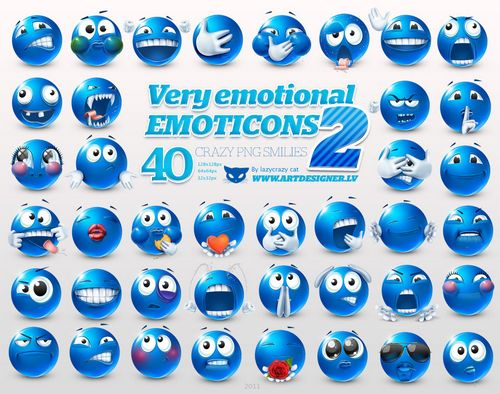 Very emotional emoticons 2