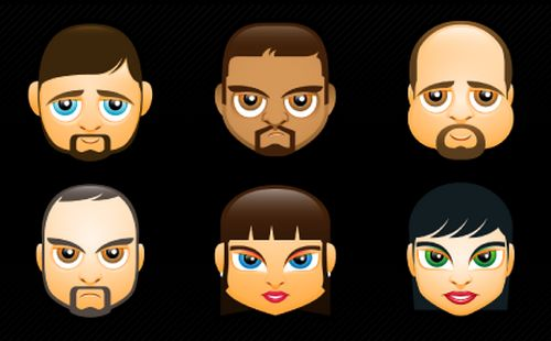 Faces Avatars | 115 PNG Files