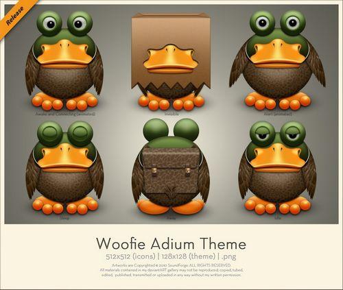 Woofie Adium Theme