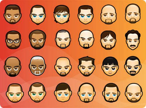 Face Avatars icons BY deleket