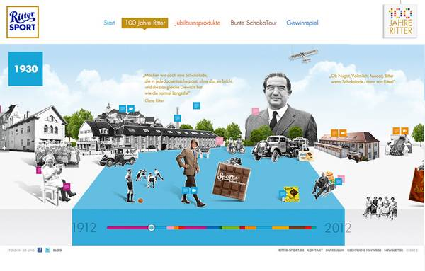HTML5 websites : Ritter Sport - 100 years of Ritter