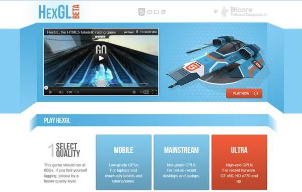 HTML5 websites : HexGL