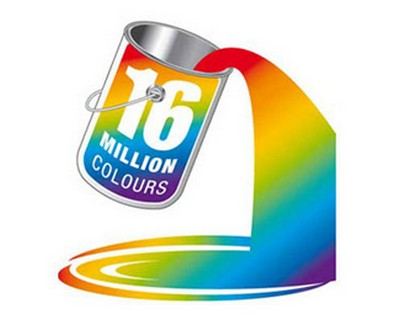 16 Million Colors logo