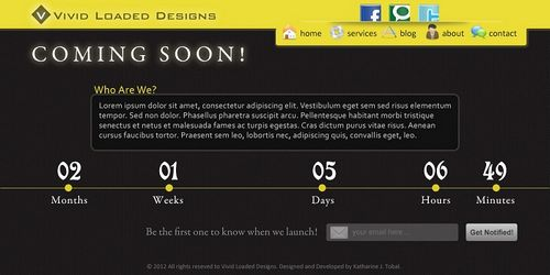 Design Sleek and Clean Coming Soon Page in Photoshop