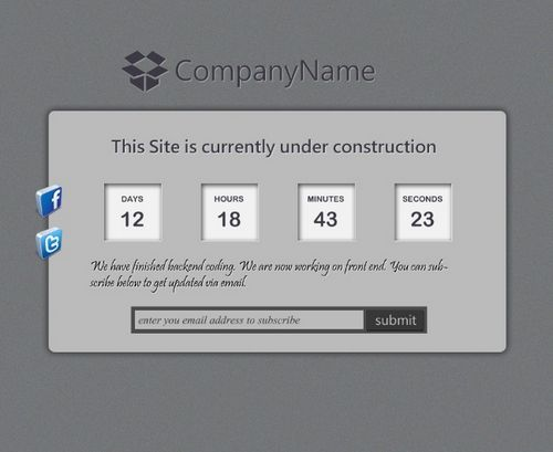 Design under construction layout in photoshop
