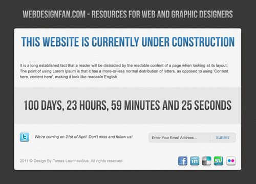 How to Design an Under Construction Page