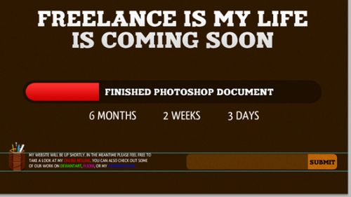Freelance Coming Soon Photoshop Tutorial