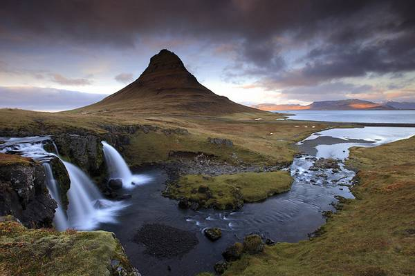 Iceland - Pyramid Mountain Waterfall (Kirkjufellfoss)