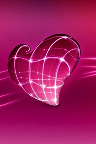 3D Heart iPhone Wallpaper