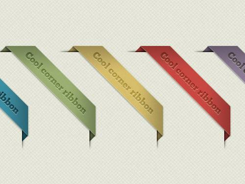Corner Ribbon (PSD)