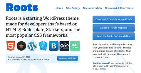 Free WordPress Theme Frameworks