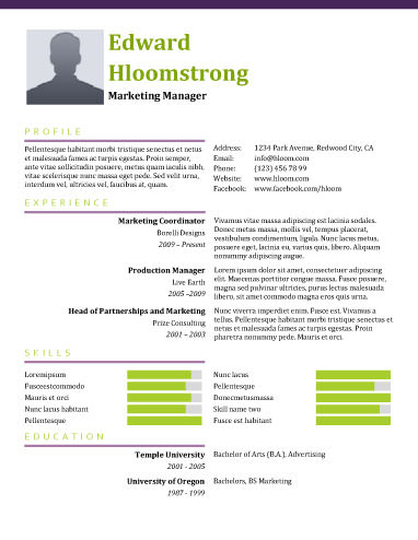 Springing - free resume templates