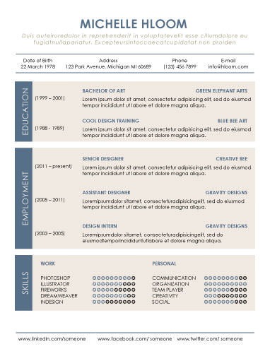 Organized - free resume templates