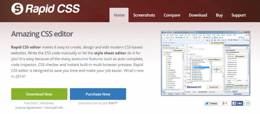 free CSS Editors