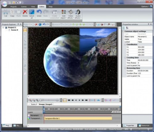 best free video editing software - VSDC Free Video Editor