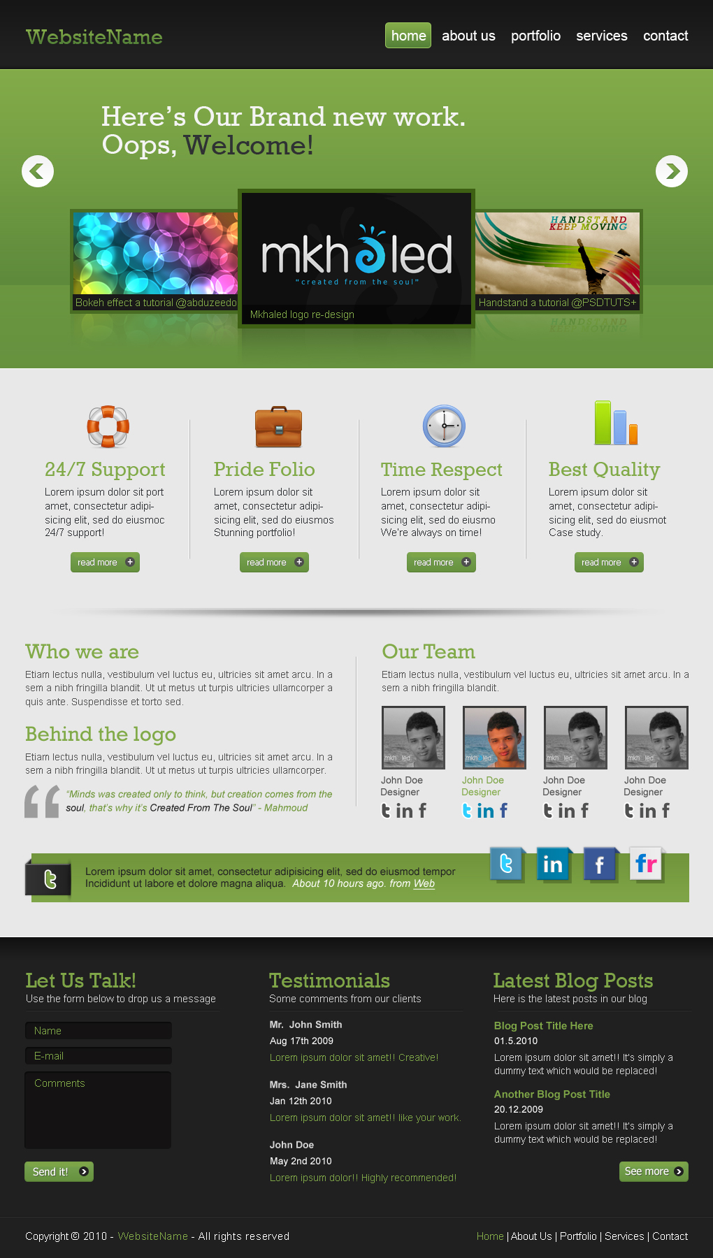 photoshop tutorials to create website layouts