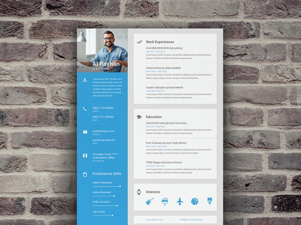 9-material-design-resume