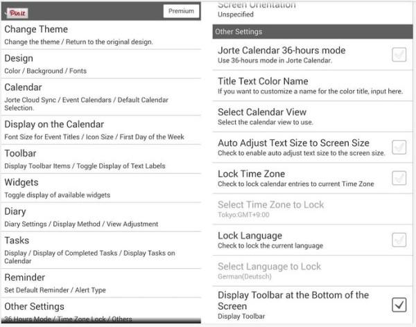 5-Jotor - android calendar app