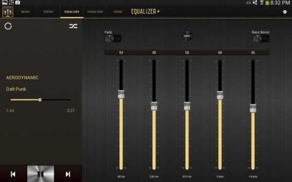 4-Equalizer + mp3 player