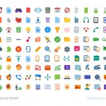 1,800 Flat Color Icons by Icons8
