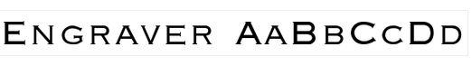 4-engraver-font