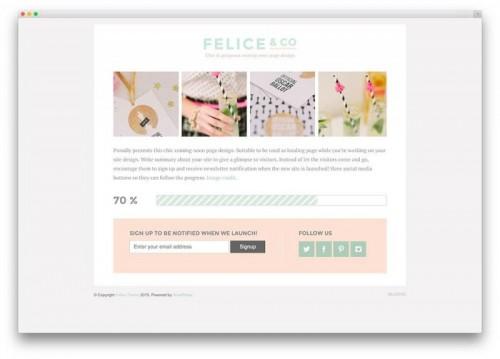 2. Felice - Coming Soon WordPress Themes
