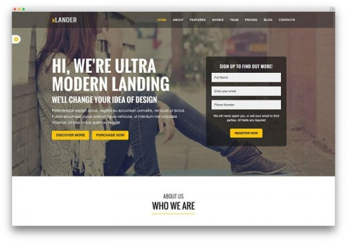 7. xLander - Coming Soon WordPress Themes