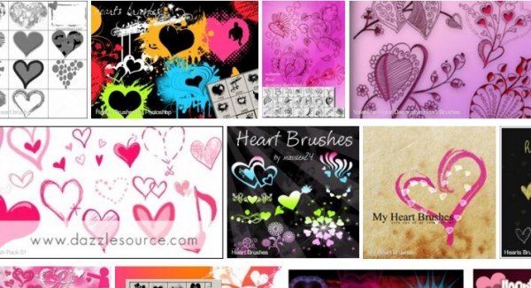 List of Brushes - heart brushes collection