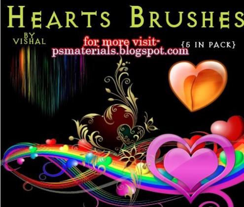 Photoshop Hearts Brushes - heart brushes photoshop download free