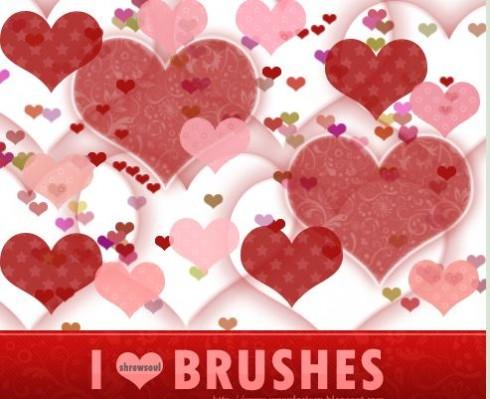 I heart brushes - wedding heart brushes for photoshop