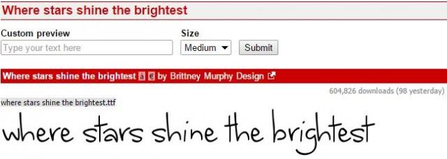 Where stars shine the brightest - Best Handwriting Fonts