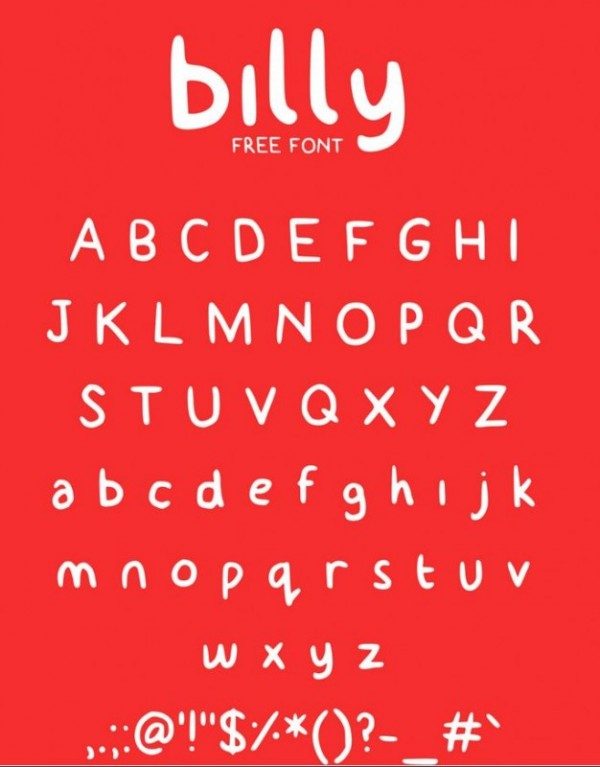 Billy Typeface - best handwriting fonts for free