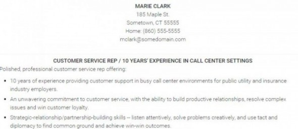 Career Advice Customer Service Resume Sample - customer service resume examples pdf