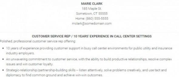 Career Advice Customer Service Resume Sample - customer service resume examples pdf