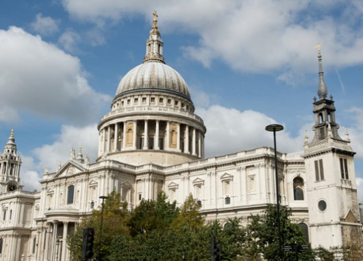 17. St. Paul's Cathedral, London - famous london architecture