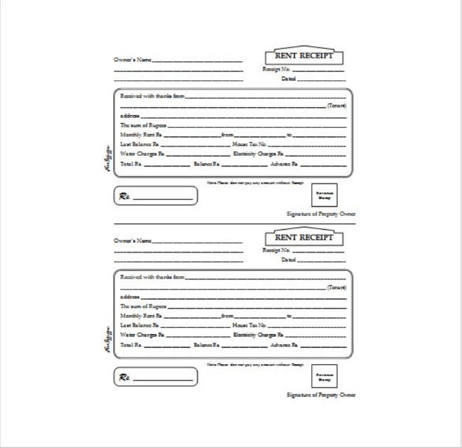 rent receipt templates for inspiration