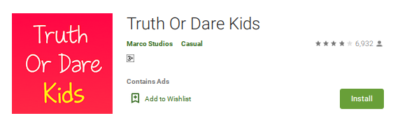 best truth or dare apps - Truth or Dare Kids