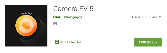 1. Camera FV-5 - best night vision app