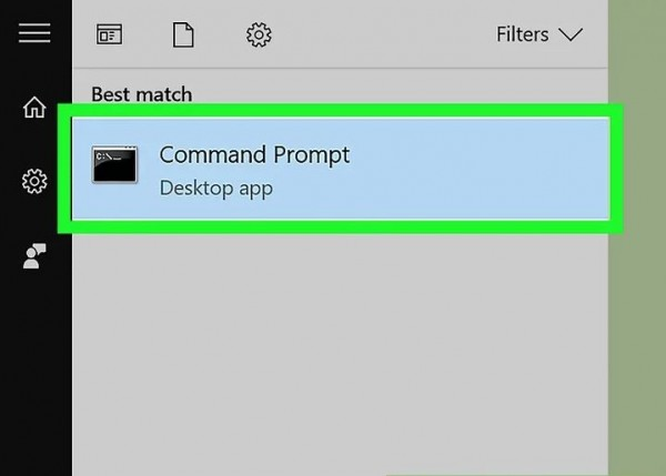 1) Open Command Prompt on your device