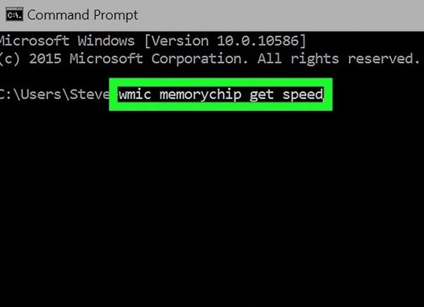2) Type the command required