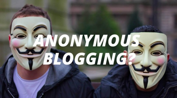 anonymous blogging
