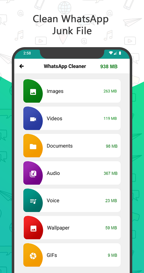Status Saver - clean whatsapp junk files
