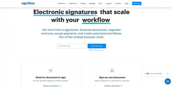 SignNow: No More Piles of Paper